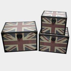 Screen Gems Furniture Britannia Decorative Trunks - Set of 3 - SGT02