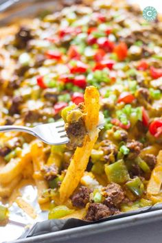 The most delicious dish- loaded nacho fries!