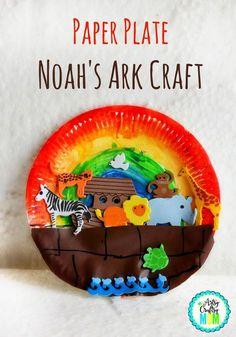 Paper Plate Noah\u0027s Ark Craft - Bible activities & Teaching the 7 Days of Creation - Sunday School Crafts | Creation ...