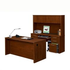 Desk, Credenza and Hutch Combo #officefurniture | National Business Furniture