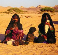 "Oman | ""Bedouin women in desert"" 