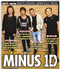 The boys for 'The Sun' tomorrow