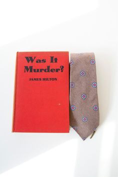 Cacharel Necktie & Book  Vintage Gift Set fort Guys  by PomegranateVintage on Etsy, $111.11