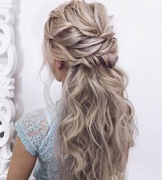 25 Glamorous Wedding Hair Half Up Half Down Hairstyles glamorous and timeless wedding hair half up half down hairstyles; wedding hairstyles trendy hairstyles and colors wedding hairstyles half up half down; wedding hairstyles for long hair; Wedding Hair Half, Wedding Hairstyles For Long Hair, Wedding Hair And Makeup, Hair Makeup, Gorgeous Hairstyles, Trendy Hairstyles, Bridesmaid Hair Half Up Long, Glamorous Hairstyles, Rustic Wedding Hairstyles