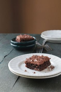 Chocolate Mousse Brownies via @Kate Petrovska | Diethood #brownies #chocolate #dessert #recipe