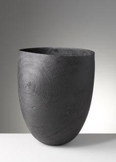 Friedemann Bühler | Vessel, blackened oak, brushed, sandblasted