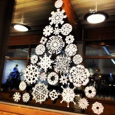 Everyone @Create made amazing #snowflakes & @Grace Cooper created this #christmas #tree with them today!
