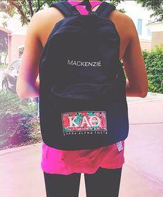 Backpacks // made by 224 Apparel #Theta #KappaAlphaTheta #Floral
