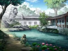 He is from a very rare clan of a tribe that holds an unequaled beauty… Chinese Landscape, Fantasy Landscape, Landscape Art, Fantasy Places, Fantasy World, Fantasy Art, Episode Interactive Backgrounds, Episode Backgrounds, Ancient Chinese Architecture