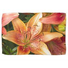Garden Lilies Hand Towel