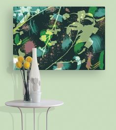 Gum Tree canvasin rich green. Australian wall art canvas | Wallstudio