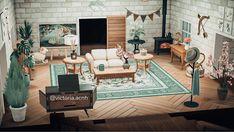 Animal Crossing Cafe, Animal Crossing Wild World, Cute Living Room, Ac New Leaf, Living Room Inspiration, Living Room Interior, Living Room Designs, Decoration, Interior Design