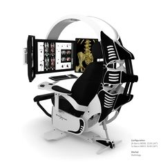 This is the ultimate in ergonomic computer workstations. If you find yourself in an environment where most of your day is spent monitoring or working on a computer then this is the workstation you need.