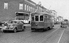 The Richmond Hill line, Myrtle Avenue, Queens, sometime in the late 1940s.