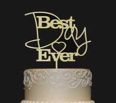 Rustic Wedding Cake Topper  Personalized Monogram by LaserTree