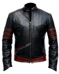XMen Origins: Wolverine (Hugh Jackman) Black and Red Leather Jacket