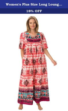 e1f9aaf0e42c Women's Plus Size Long Lounger Pink Raspberry Batik,3X. You're sure to