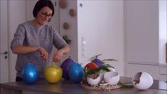 Easter egg made of plaster Påskeegg av gips #DIY #easterdiy