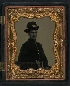 [Unidentified soldier in Union uniform and infantry Hardee hat with plume] (LOC) by The Library of Congress, via Flickr