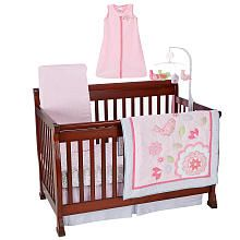 Our bedding set for baby girl !!! Just Born Girls Chloe 6 Piece Crib Bedding Set