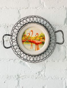 Flamingo Serving Plate at Rose and Grey