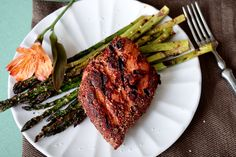 grilled blackened tuna steaks with home made spice mix!