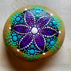 Purple star flower mandala