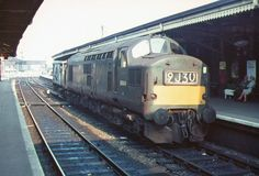 D6884 (later 37184) at Llanelly during August 1967. Diesel Locomotive, Electric Locomotive, British Rail, Diesel Engine, Tractors, Transportation, Track, Runway, Tractor