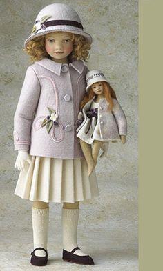 Caroline 11 Inch Tall Felt Doll Special Limited Edition : 100 Created in 2005