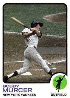 1973 Topps -Bobby Murcer Card Yankees Logo, Yankees Fan, New York Yankees Baseball, Yankees Pictures, Baseball Pictures, Best Baseball Player, Better Baseball, Mickey Mantle, Baseball Cards