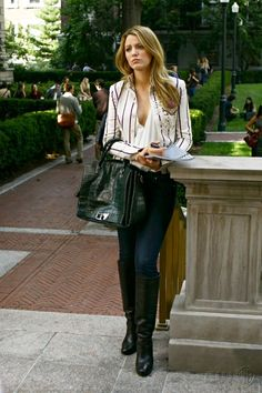 "This Blazer >>>> ( Serena Van Der Woodsen Gossip Girl S2 ""New Haven Can Wait"")"