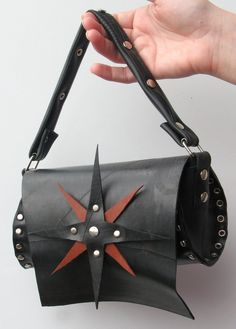 Small leather bag Vegan handbag Small vegan purse Compass   Etsy