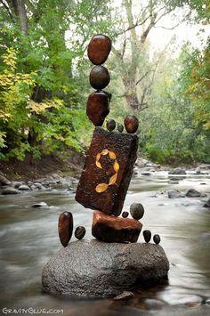 Michael Grab, Gravity Glue Stone Balancing, Autumn 2012.