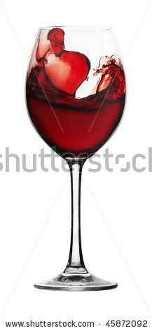 Red Wine In A Glass Glass On A White Background Stock Photo 45872092 : Shutterstock