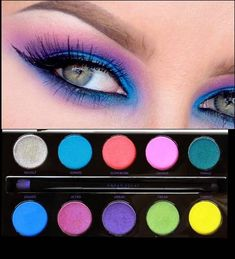 Electric Palette Urban Decay Makeup Look