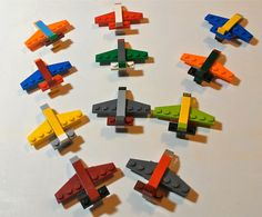 LEGO Mini Airplane Magnets or Key Chains Party Favor by ValGlaser, $20.00