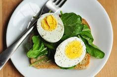 This is a good breakfast -- and this link has the simple cooking advice I needed on many basics!