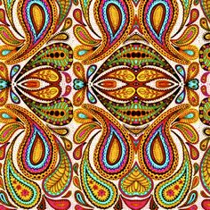 Paisley Polka fabric by whimzwhirled on Spoonflower - custom fabric
