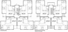 Outstanding 12 Unit Apartment Building Plan 8 Also Best Home Design Floor Cost Complex Indium Apartment Floor Plans, One Bedroom Apartment, Apartment Ideas, Dallas Apartment, Interior Design Plants, Hall Flooring, Chief Architect, Residential Construction, Condos