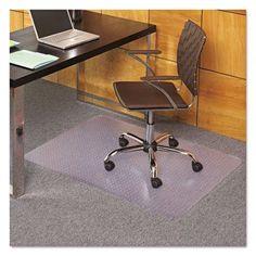 EverLife Chair Mats For Medium Pile Carpet, Rectangular, 36 x 48, Clear ESR121821