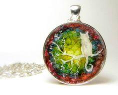 CAT+Necklace+Art+Pendant+Hand+Painted+by+Artbycarriepaquette,+$26.00