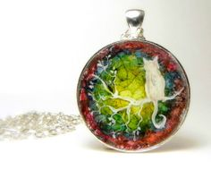 Eggshell Mosaic CAT on a Branch Silver by Artbycarriepaquette, $25.00