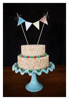 eighteen25: rice krispie cake. so easy and yummy!