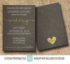 Cursive Wedding Invitation or Save the Date by AestheticJourneys