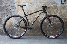 """MTB Victoire steel, 29"""", singlespeed, paragonmachine sliding drop-outs, lefty, raceface turbine... one step to perfection"""