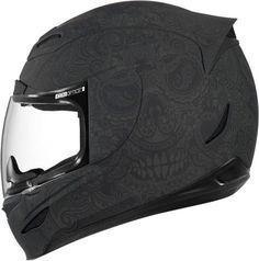 Icon Airmada Chantilly Motorcycle Helmet Matte Black