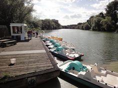 Tretbootverleih auf der Freizeitinsel Groov in #Koeln-Porz http://www.ausflugsziele-nrw.net/freizeitinsel-groov/