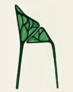 ronan et erwan bouroullec, sketch for vegetal chair, vitra, felt pen on paper(sketchbook), 2005