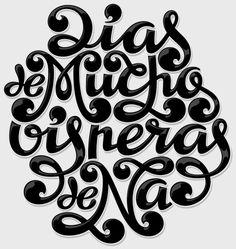 hand lettering by Pablo Lacruz