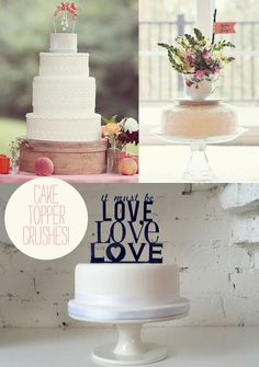 love these wedding cake topper ideas